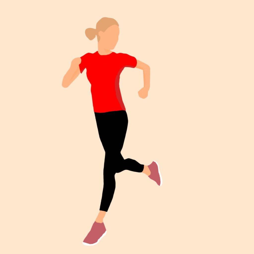 chica corriendo jogging